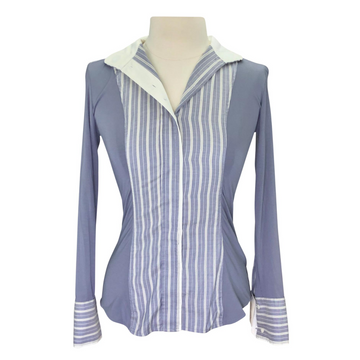 Le Fash long Sleeve Shirt in Grey/Striped