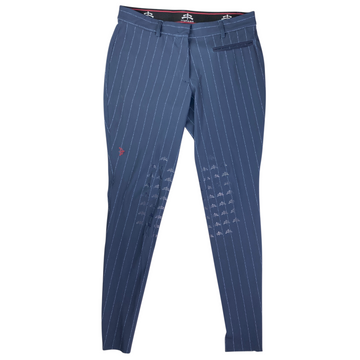 MaKeBe Knee Grip Breeches in Navy Pinstripe - Women's IT 46 (US 32)