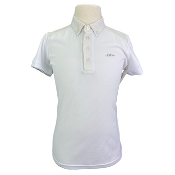 AA Platinum Hugo CleanCool Short Sleeve Polo in White - Boy's 11/12
