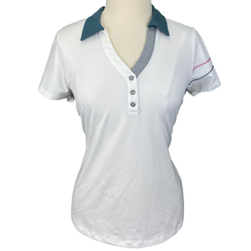 Cutter & Buck 'Annika' Polo in White - Women's Large