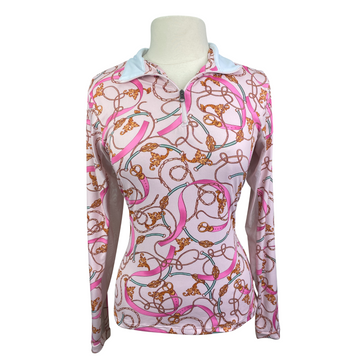Kastel Charlotte Signature Long Sleeve Shirt in Pink Design - Women's Large