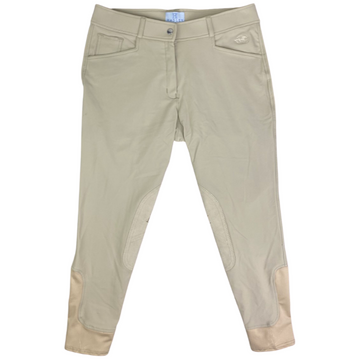 SmartPak Hadley Knee Patch Breeches in Tan