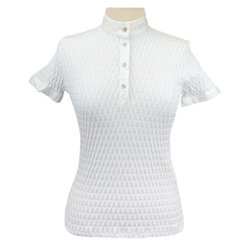 Equiline Alissa Competition Shirt in White
