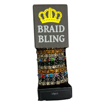 Spiced Equestrian Rhinestone Braid Bling in Assorted - One Size