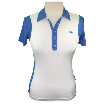Alessandro Albanese Limited Edition Polo in Cream/Blue
