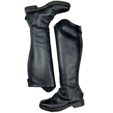 Other side of Tuff Rider Starter Back Zip Field Boots in Black - Women's 9 (wide calf)
