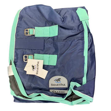 SmartPak Classic Turnout Sheet in Navy/Mint