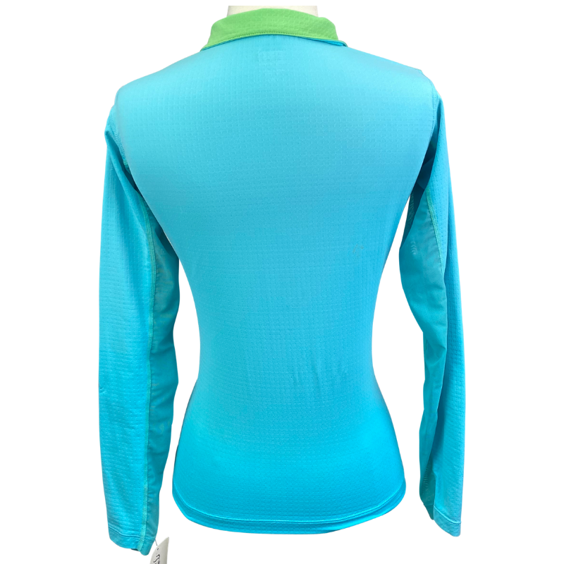Back of Riding Sport CoolBlast Sun Shirt in Sky Blue