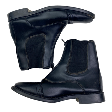 Side view of Let's Ride Paddock Boots in Black.