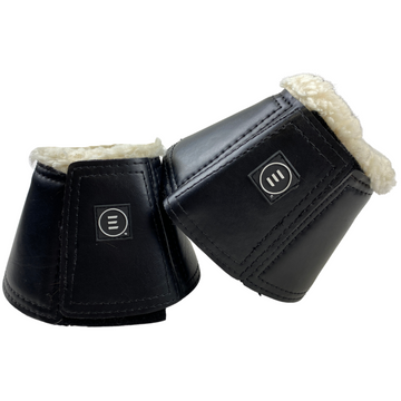 Back of EquiFit Essentials Sheepswool Lined Bell Boots in Black