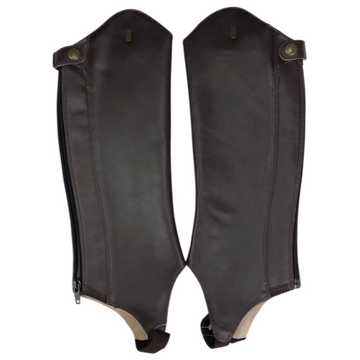 Tredstep Trimline II Legging Half Chaps in Brown - Slim Calf/Reg Height