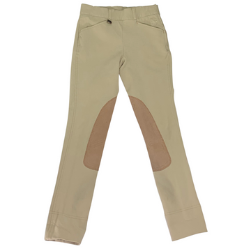 Ovation Euro Seat Side Zip Jodhpurs in Tan