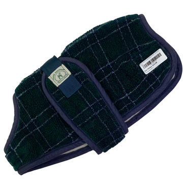 Dog Coat in Green/Navy Plaid