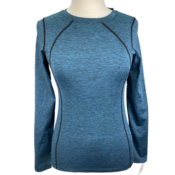 Kerrits Baselayer Top in Blue Heathered - Women's XS