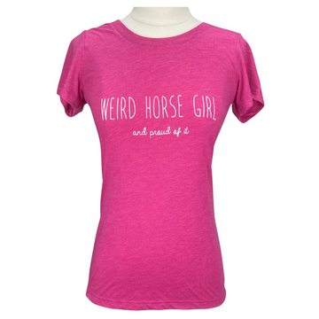 Spiced Equestrian 'Weird Horse Girl' Tee in Pink