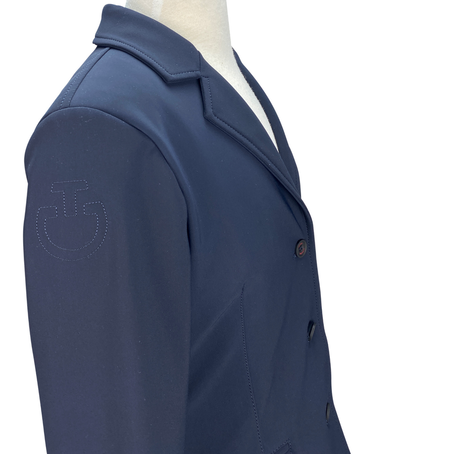 Logo on Cavalleria Toscana Competition Jacket in Navy