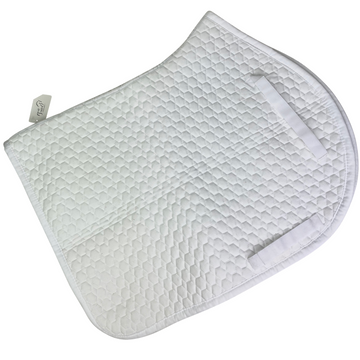 E.A. Mattes Light Flannel Pad in White - Large