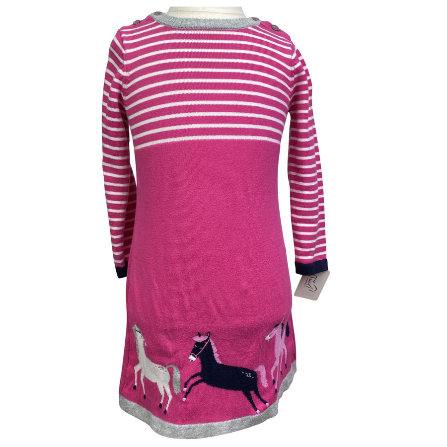 Joules Sweater Dress in Pink Stripes