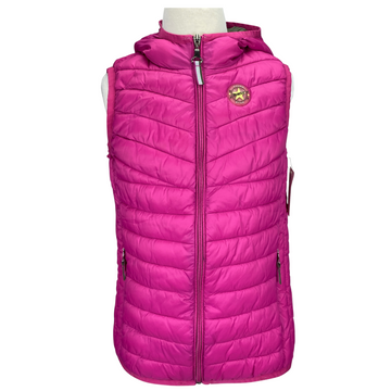 Front of Pikeur Fea Vest in Pink