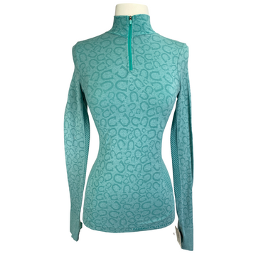 Noble Outfitters Long Sleeve in Teal/Horseshoe - Women's XS