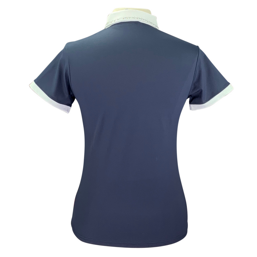 Back of Harcour Equestrian Rosa Polo in Navy
