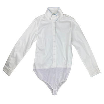 Kaki by Kathryn Hall Bodysuit Show Shirt in White - Children's 14