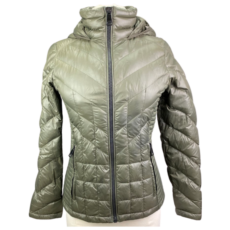 Clavin Klein Down Jacket in Army Green - Women's Small
