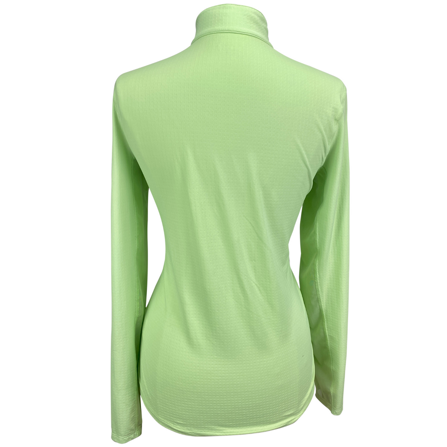 Back of Dover Saddlery CoolBlast Sunshirt in Lime Green - Women's Large
