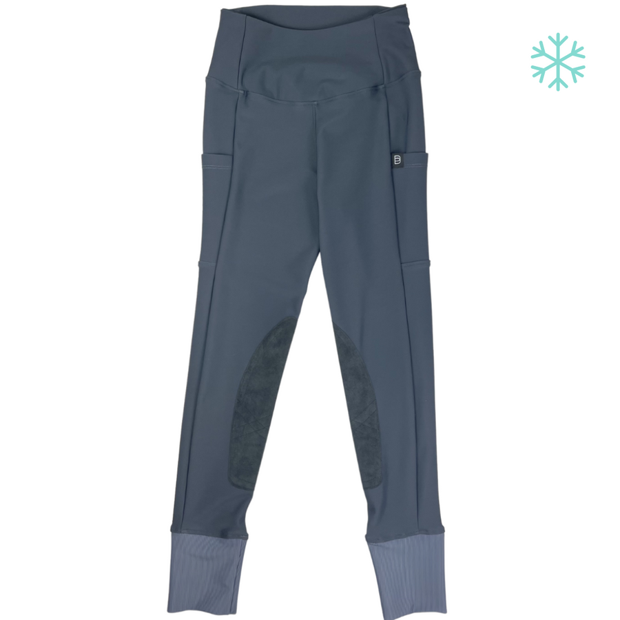 front view of Botori 'G4 Fleece' Tights in Slate - Women's Small