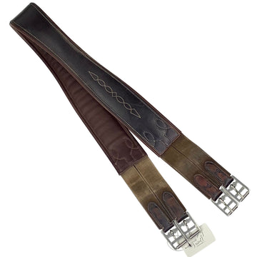 Bobby's Signature Series Double Side Elastic Leather Girth in Espresso - 54