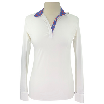 RJ Classics Classic Cool Prestige Show Shirt in White/Crab Collar