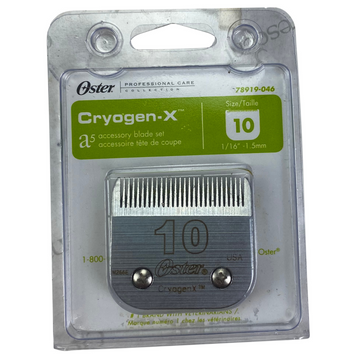 Oster A-5 #10 Cryogen X Blade in Stainless Steel