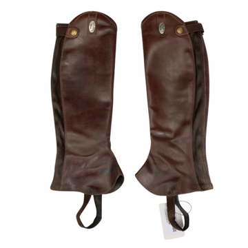 Parlanti Half Chaps in Brown - Slim Calf/Reg Height