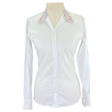 RJ Classics Cool Stretch Show Shirt in White/ Peace Signs