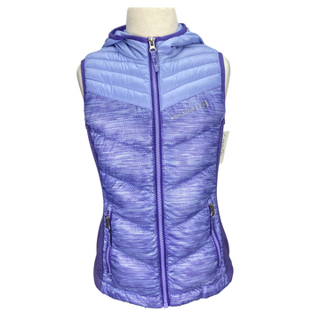 Front of Free Country Padded Vest in Purple