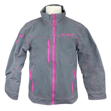 Cowgirl Hardware Jacket in Grey/Hot Pink Detail
