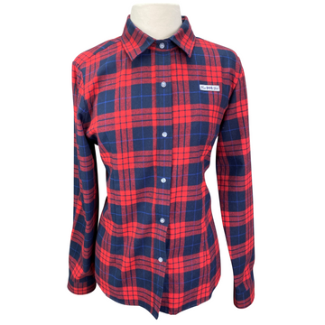 Hunt Club Button Down in Red Plaid - Women's XL