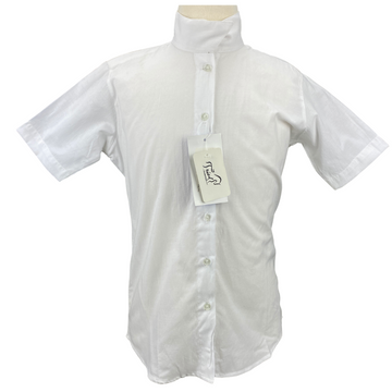Front of TuffRider Starter Short Sleeve Show Shirt in White