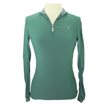 Tredstep Sun Chic Shirt in Green/Grey Collar