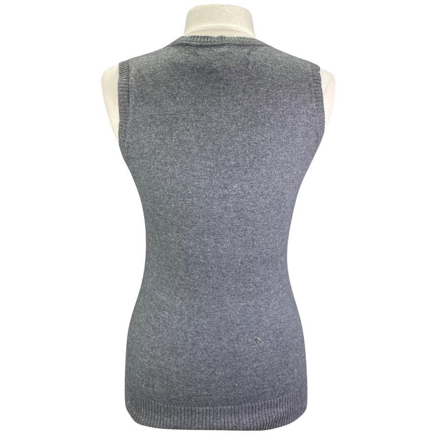 Back of Kingsland V-Neck Sweater Vest in Grey