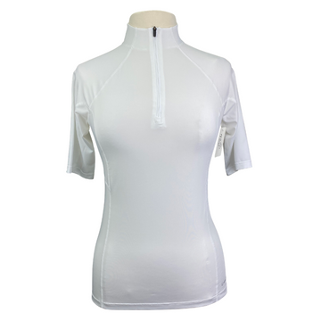 Noble Outfitters Short Sleeve Performance Shirt in White - Women's Medium