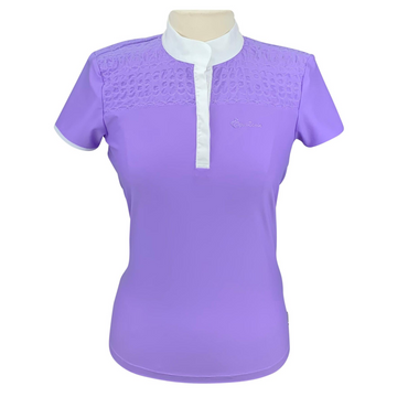 Equiline Denise Short Sleeve Shirt in Lavender