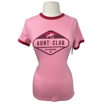 front of Hunt Club Vintage Tee in Heathered Pink - Women's Large
