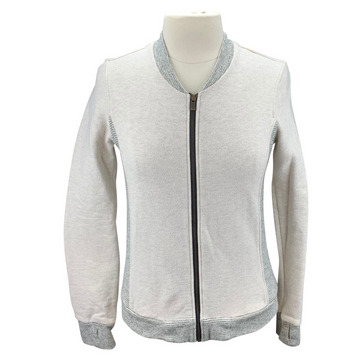 Two Bits Equestrian The Bomber in Oatmeal - Women's 4 (XL)