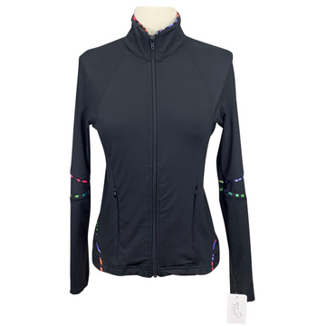 EIS Full Zip Jacket in Black/Multi Trim