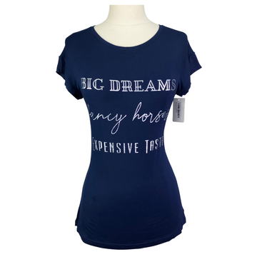 Spiced Equestrian Big Dreams Tee in Navy - Women's Small