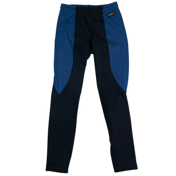 Kerrits Kids Performance Knee Patch Tight in Blue/Black.