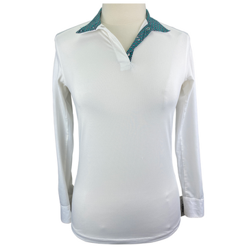 Dover Saddlery CoolBlast Show Shirt in White - Women's XS