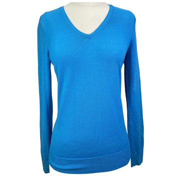Uniqlo V-Neck Sweater in Teal.