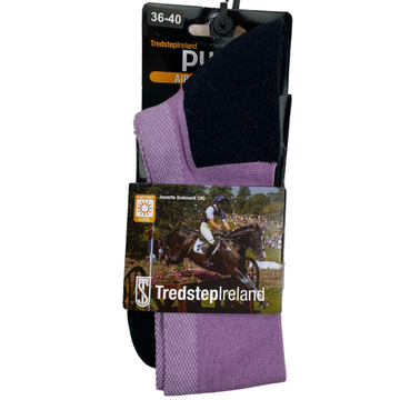 Tredstep Pure Air Cool Socks in Purple/Black - Women's Small (5.5-9.5)